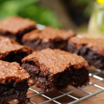Red Velvet Chocolate & Beet Brownies