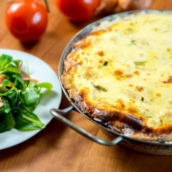Zucchini-Carrot Crustless Quiche