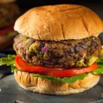 Mushroom & Beef Burgers with Curried Yogurt Sauce