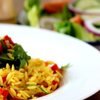 Fire Roasted Tomato Orzo Salad