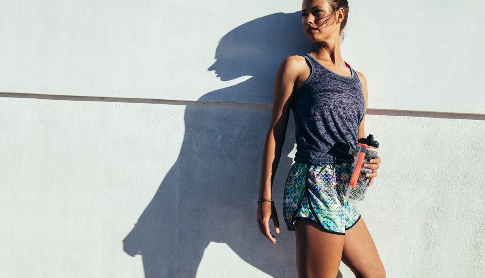 woman in summer running gear