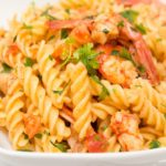 Fusilli with Roast Tomatoes and Shrimp