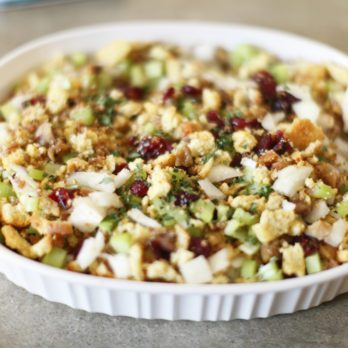 Gluten-Free Cranberry Pecan Stuffing