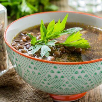 Moroccan Carrot & Lentil Soup