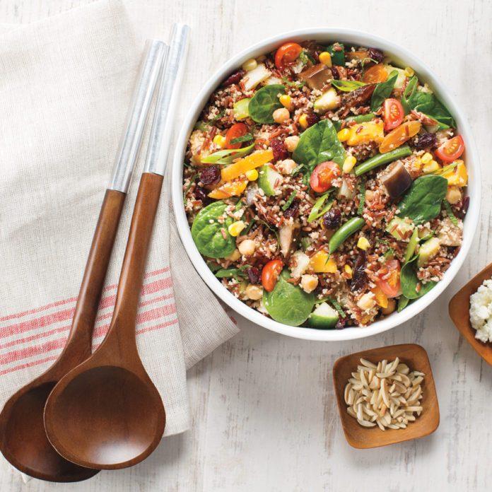 Veggie, Fruit & Nut Holiday Salad
