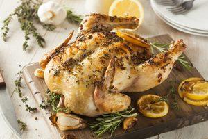 Rosemary, Lemon & Garlic Stuffed Roast Chicken