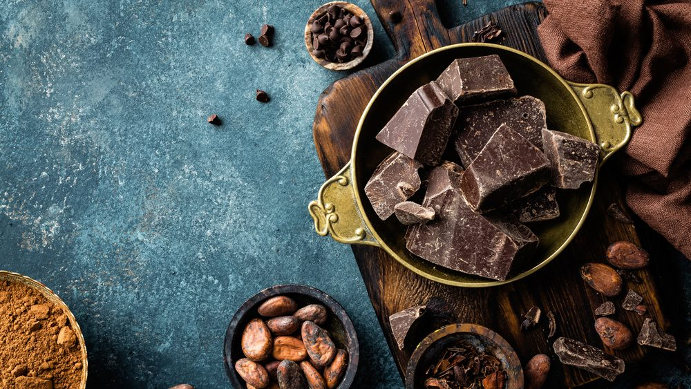 flat tummy foods dark chocolate