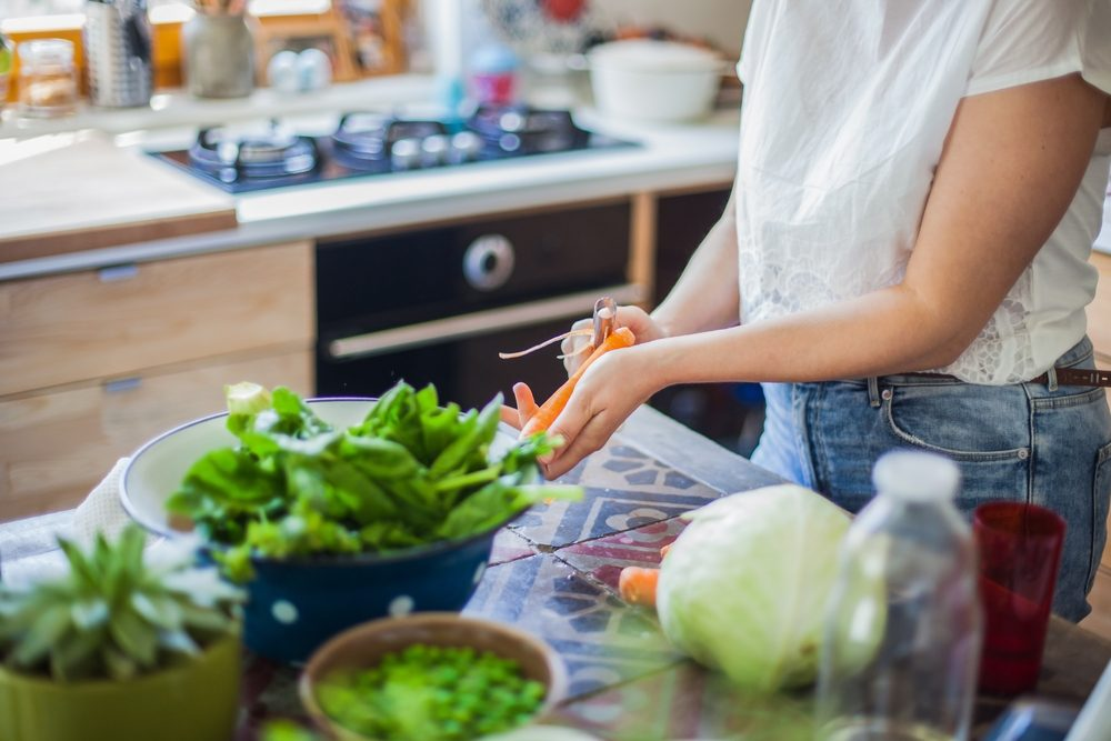 woman cooking _ nutrients for anxiety