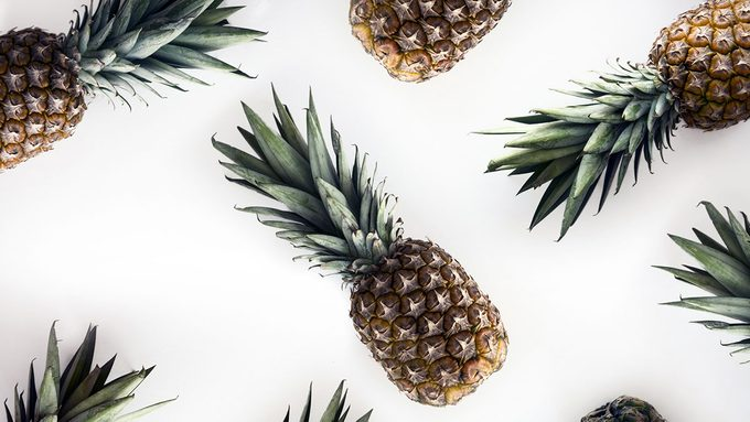 Pineapple helps with digestion