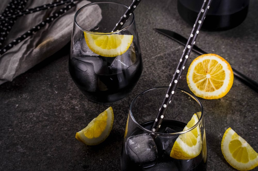 charcoal lemonade drinks