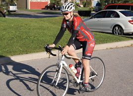 Completing a 100 km cycling challenge