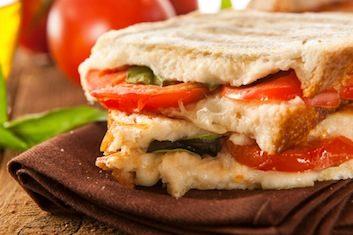 Grilled sandwich panini strawberry