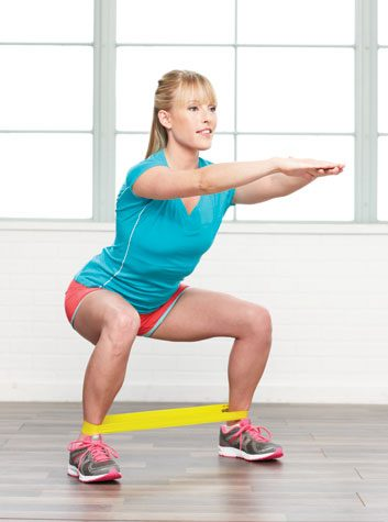 Lateral glute walk: 2 minutes