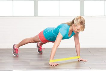 Dynamic hand planks: 1 minute
