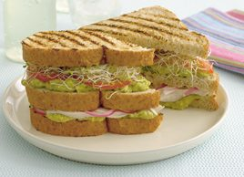 Chicken, Avocado and Alfalfa Club Sandwich