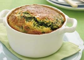 Spinach and goat's cheese soufflé