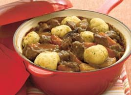 Beef in Ale with Horseradish Dumplings
