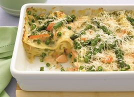 Salmon and Asparagus Lasagna