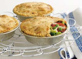 Vegetable Pies with Cheese and Herb Pastry