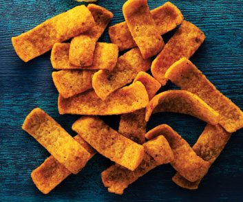 Barbecue corn chips