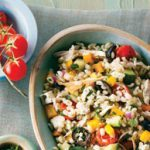 Greek Salad with Barley and Chicken