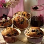 Wild Blueberry Cupcakes with Cream Cheese Icing and Wild Blueberry Topping