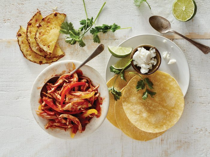 Chicken Chipotle Tacos with Pineapple
