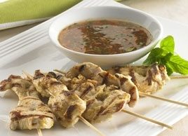 Chicken Satays with Thai Dipping Sauce