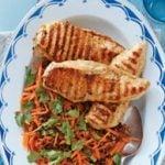 Citrus Chicken with Lentil & Carrot Salad