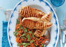 Citrus Chicken with Lentil & Carrot Salad