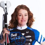 Clara Hughes cycles for mental health awareness