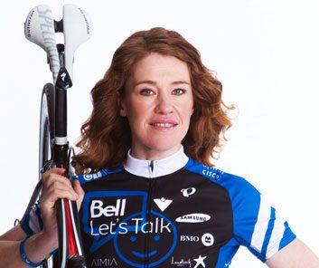 Clara Hughes cycles for mental health awareness