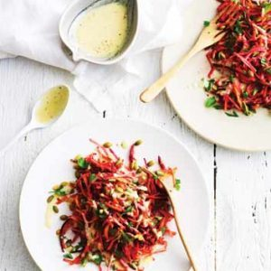 Tangy Radish and Beet Coleslaw
