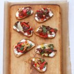 Sun-dried Tomato & Goat Cheese Bruschetta