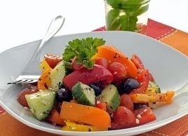 Cucumber, Radish and Melon Salad