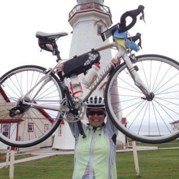 Bonnie back on the bike