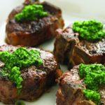Nut-free Parsley Pesto and Lamb Chops