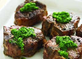 Nut-free Parsley Pesto and Lamb Chops