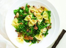 Farfalle with Arugula and White Beans