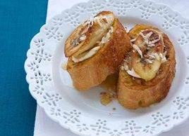Light Cream Cheese, Banana & Coconut Pain Perdu