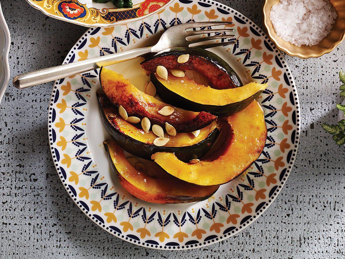 Garam Masala Glazed Acorn Squash