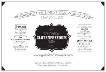 Event: GlutenFreedom Week launches in Toronto