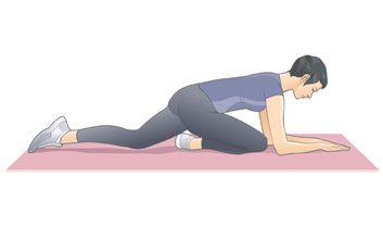 Glutes stretch