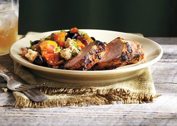 Pork Tenderloin with Grilled Greek Salad