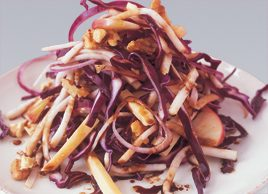 Red cabbage, Edam and walnut salad