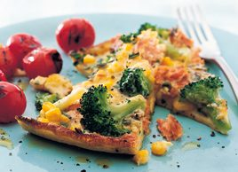 Broccoli and salmon frittata