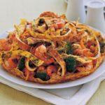 Shrimp and vegetable foo yong