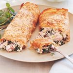 Baked spinach and ham pancakes