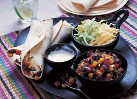 Mexican bean burritos