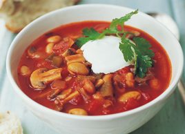 Mixed bean chili soup